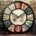 HYLR 38cmliving Orologio da Parete della Stanza Retro Stile Industriale Ristorante Creativo Bar caffè Decorazione Decorazione a Parete Orologi e Orologi