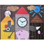 I tre porcellini orologio da parete - Pirondini
