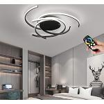 IBEST 54W Anelli plafoniera LED dimmerabile lampada a soffitto lampadario di moderna camera da letto creativa, soggiorno, sala da pranzo, sala studio, applique a muro, luce a sospensione, Ø56CM, Nero