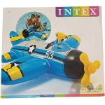 Intex Gonfiabile Cavalcabile Aeroplanino Con Pistola Ad'Acqua, Dimensioni: 132cm - 130cm -Cod.57537np