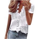 ITISME Camicetta Donna Manica Corte Estivo T Shirt Divertenti Donna Scollo V Foglia di Loto Maglietta a Manica Corte Stampa Fiore Ananas Casual Moda Slim Fit Basic Top Estate 2020
