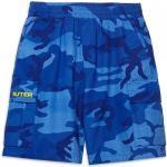 Iuter - jogger cargo camo shorts - blu