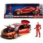 Jada Toys Marvel Iron Man Chevy Camaro Ss del 2016 in Scala 1:24 con Personaggio Die-Cast