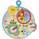 """Janod - Calendario didattico """"Nel corso del tempo"""" (legno), per bambini dai 3 anni in su, versione francese, J09617"""