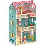Janod - Casa Delle Bambole Happy Day (Legno), 3 Piani e 12 Accessori Inclusi, Giocattolo Di Imitazione, per Sviluppare L'Immaginazione - Da 3 Anni in su, J06580