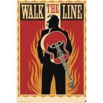 Johnny Cash - Walk The Line - Poster - Unisex - multicolor