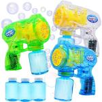 JOYIN 3 Bubble Guns Blaster Kit Automatico Bubble Maker Blower Machine con 3 soluzioni di Bolle per Bambini, Bubble Blower per bomboniere, attività all'aperto e al Coperto