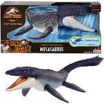 Jurassic World- Dinosauro Mososauro Protettore degli Oceani con Mascella Mobile, Realizzato da Plastica Raccolta dagli Oceani, Giocattolo per Bambini 4+Anni, HCB04, Multicolore