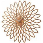 Karlsson Sunflower Orologio da Muro in legno MDF, beige, legno/mdf, rund