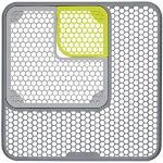 KitchenCraft - Tappetino di protezione per lavello, regolabile, in plastica, 30,3 x 30,3 x 0,3 cm, colore: Grigio/Verde