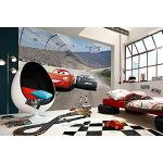 Komar Disney CARS 3 - Carta da parati 368 x 254 cm, decorazione da parete, auto e McQueen, cameretta dei bambini, 8 – 403