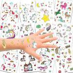 Konsait Unicorno Tatuaggi temporanei per Bambini, Tatuaggi Finti Temporanei Adesivi Unicorno, Fata, Cuore, Stella su 300 Motivi, Regalo per Festa di Compleanno o Bomboniera per Le Ragazze I Bambine