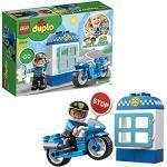 LEGO DUPLO Town Moto della Polizia, Mattoncini da Costruzione con Personaggio Giocattolo del Poliziotto, Giochi per Bambini di 2+ Anni, 10900