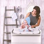 LULANDO - Accappatoio con cappuccio in spugna (80 x 100 cm). Asciugamano in spugna caldo e morbido per neonati e bambini, con panno da bagno.
