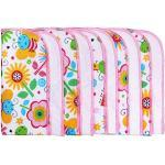 LULANDO Panni Di Lavaggio In Flanella Confezione Da 10 Oeko-Tex Standard 100, Farbe:Bunte Bienen/Pink