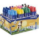 Lyra 5703480 - Espositore con gessetti colorati, con 1 temperino, 48 pezzi, colori assortiti