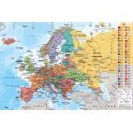 Maps - European Map - Landkarten Poster Länderflaggen EU Europäische Union Version in Englisch 91,5x61 cm