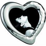 Mascagni 864-Cornice portafoto in Metallo Brillante, Argentovivo a Forma di Cuore, 10 x 10 cm, 10 x 10 cm