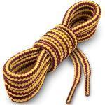 Miscly Lacci per Scarpe Rotondi [3 Paia] Stringhe Robuste e Resistenti - Ideali per Scarpe Da Trekking e Da Montagna, Scarponi, Scarponcini e Stivali - Diametro 5mm (160cm, Giallo/Marrone)