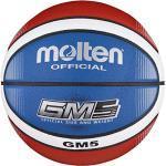 Molten - BGMX5-C, Pallone da basket, colore: Rosso/Bianco/Blu