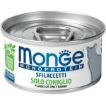 Monge Monoproteico - Sfilaccetti di solo Coniglio lattina 80g GRAIN FREE