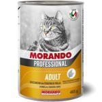 MORANDO Professional Adult - Bocconcini con Fegatini di Pollo 405 gr. [ Lattina per Gatti ]