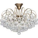MW-Light 232016506 Lampadario da Soffitto Miele Bronzo Cristallo Stile Moderno Elegante 6 luci x 60W E14