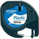 Nastro per etichettatrici Dymo LetraTag plastica 12 mm x 4 m nero/bianco S0721610