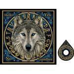 Nemesis Now Board 39cm Blue Wolf Lisa Parker-Lavagna con scritta Spirit, 39 cm, colore: Blu, crema, 38.5cm, NOW9985