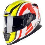 Nitro NRS-1 Pursuit, casco integrale XL male Bianco/Giallo Fluo/Rosso