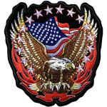 niumanery American Eagle Army Badge Punk Rock Bike Patch Large Embroidery Biker Patch Motorcycle Clothes Patch