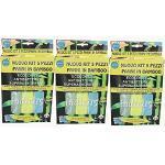 Nuovo 3 Kit da 5 Pezzi Panni in Bamboo Ecologici Antibatterici Superassorbenti 3 Panni Multiuso 1 Panno Pavimenti 1 Panno Occhiali