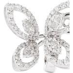Orecchini con farfalla in oro bianco 18kt e diamanti