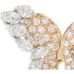Orecchini con farfalla in oro bianco e rosa 18kt con diamanti