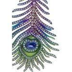 Orecchini Elemento a forma di piuma di pavone