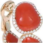 Orecchini in oro rosa 18kt con diamanti
