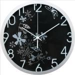 Orologio da parete Flowers - diametro 30,5 cm - nero - Methodo Quantita min. 1