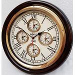 Orologio da parete in legno d'ottone stile vintage ' World Time Clock Wall Decor regalo nautico