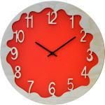 Orologio Da Parete Rotondo 48cm Pirondini Italia Ombre Rosso