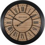 Orologio in abeteo e metallo nero 100 cm