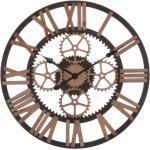 Orologio ingranaggi dorati in metallo da 60 cm