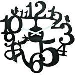 Orologio murale PI:P di Koziol - Nero - Materiale plastico