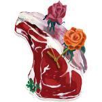 Orologio murale Pièce de boucher di Domestic - Rosa - Materiale plastico
