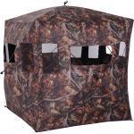 Outsunny Tenda Stealth Camo per Caccia e Fotografia 2 Persone 4 Finestre Ottima Visibilità, Tessuto Oxford, 145x145x165cm