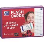 Oxford Flash 2.0 – 80 schede Bristol Flash Cards A6 (10,5 x 14,8 cm) Quadrati piccoli, colore: lilla