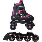 Pattini a rotelle trasformabili in pattini in linea 2 in 1 reverse fucsia nextreme