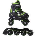 Pattini a rotelle trasformabili in pattini in linea 2 in 1 reverse verde lime nextreme