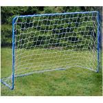 Penalty Zone Fußballtor aus Metal, Porta con Rete da Calcio 182 x 122 x 61 cm in Metallo Uso Esterno Unisex Adulto, Blu, 182x122x61 cm