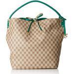 piero guidi Reversible Hobo Bag, Borsa a Spalla Donna, Verde (Verde Bottiglia), 32x35x13 cm (W x H x L)