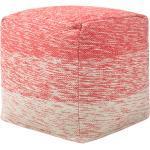 Pouf in tessuto rosso 40 x 40 cm HIRRI